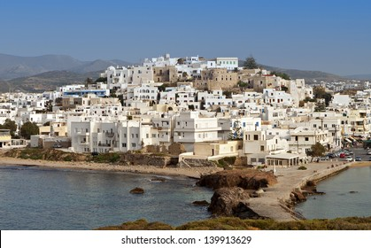 Naxos island at the Cyclades of the Aegean sea in Greece