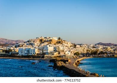 Naxos town view. Greece