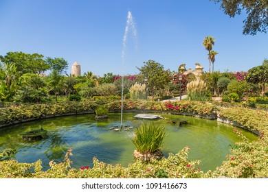 Naxxar, Malta. Fountain in the Palazzo Parisio Gardens
