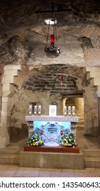 Nazareth, Israel - March 26,2019 :  Basilica of the Annunciation church, the place where the angel Gabriel visited Mary