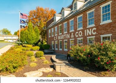Nazareth, PA, USA - October 27, 2014:  C.F. Martin & Co. Factory in Nazareth, Pennsylvania, USA8