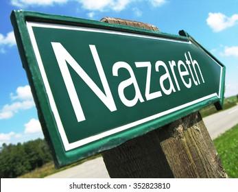 Nazareth road sign