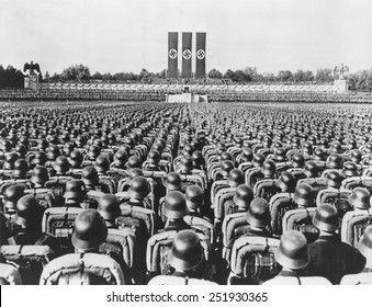 Nazi German Soldiers at the 1936 Nuremberg Rally, September 1936.