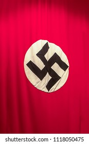 Nazi Swastika - flag. Banner of the National Socialist German Workers' Party as concept of World War II