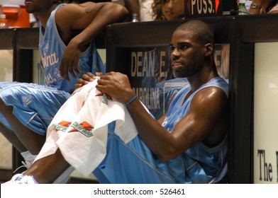NBA star Antawn Jamison of the Washington Wizards playing in a charity basketball game