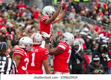 NCAA Division 1 Football University of Maryland Terrapins  Vs. Ohio State Buckeyes on November 11th 2019 at the Ohio State Stadium in Columbus, Ohio USA