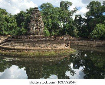 Neak Pean, artificial island on an island, an ancient hospital in the Angkor Wat complex, Siem Reap, Cambodia.