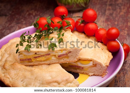 "Neapolitan Easter Traditions - Cuisine - Pizza Rustica also called ""Pizza Chiena"" is a stuffed pie."