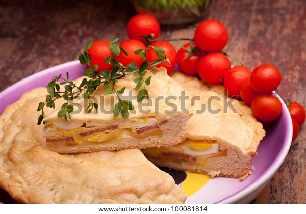 """Neapolitan Easter Traditions - Cuisine - Pizza Rustica also called """"Pizza Chiena"""" is a stuffed pie."""