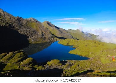 Near Bhairab Kunda Lake  of Nepal . Beautiful natural place of Nepal. The way to Gosaingund. Nepal is very important and unforgettable for footpaths.