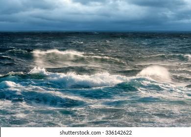 Near Gale Winds Sweeping Sea