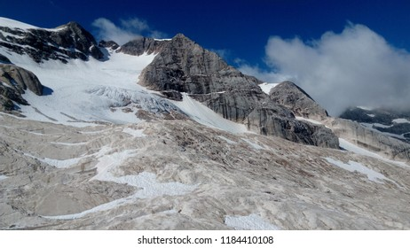 Near Marmolada glacier in Dolomites
