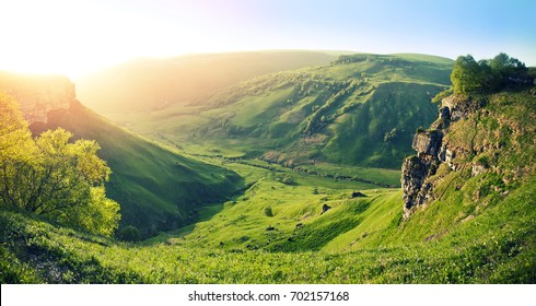 near the mountain of elbrus karachaevo