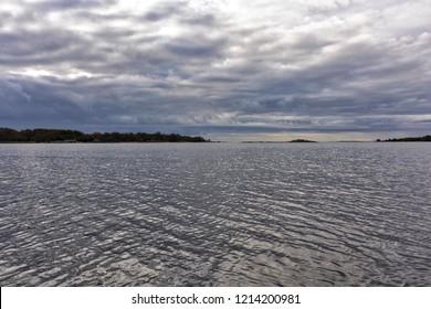 Near open water