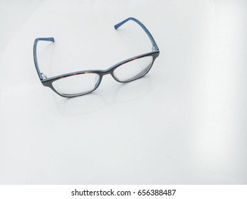 Near sightedness nerd eye glasses, myopia nerd eye glasses, beautiful nerd design glasses frame on white background, isolated