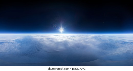Near Space panorama - 22km above ground / real panorama