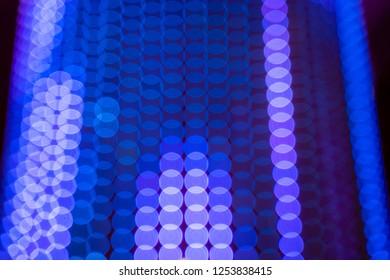 Neat Abstract Purple Lights Blur Bokeh