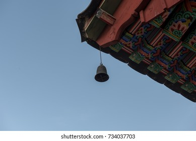 A neat bell of a templeOctober 4, 2017 taken at a temple in Korea. When the wind blows, a beautiful sound comes from the bell.