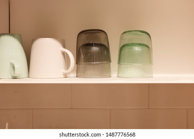 a neatly arranged cup and huey cup
