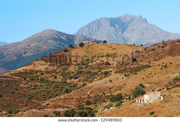 Nebbio landscape in corsica