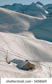 Nebelhorn ski resort Bavarian Alps Germany