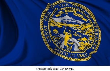 Nebraska flag - USA state flags collection no_3