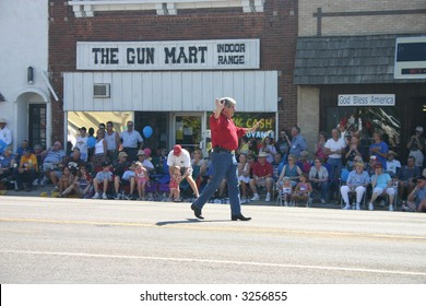 Nebraska's US Senator Ben Nelson (D) Marching in a parade