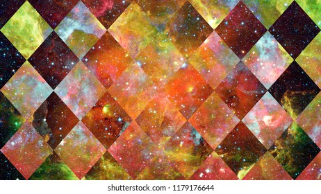 Nebula and galaxies in space. Cosmos sky. Elements of this image furnished by NASA.
