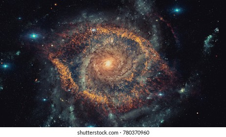 Nebula and galaxy. Majestic colorful background. Design of color clouds. Elements of this image furnished by NASA