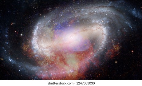 Nebula and galaxy in space. Universe with stars. Elements of this image furnished by NASA.