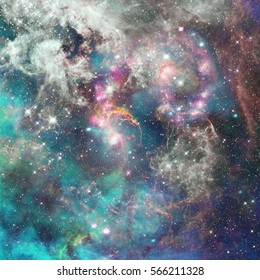 Nebula, galaxy and stars. Abstract science background. Elements of this image furnished by NASA.