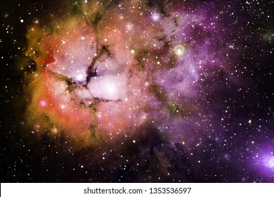 Nebula an interstellar cloud of star dust. Outer space image. Elements of this image furnished by NASA