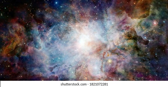 Nebula an interstellar cloud of star dust. Elements of this image furnished by NASA.