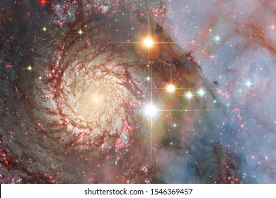Nebula an interstellar cloud of stars dust. Deep space image. Elements of this image furnished by NASA