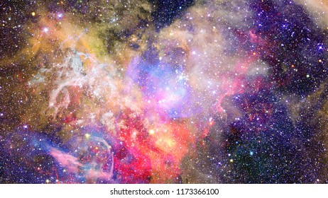 Nebula in space. Big bang. Elements of this image furnished by NASA.