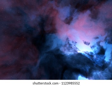 nebula space stars sky illustration background
