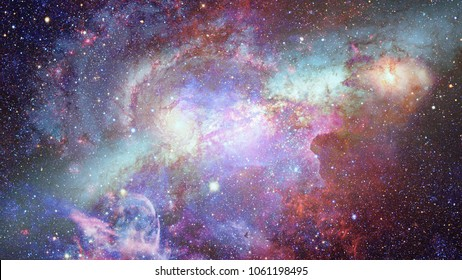 Nebula and stars in deep space. Elements of this image furnished by NASA.