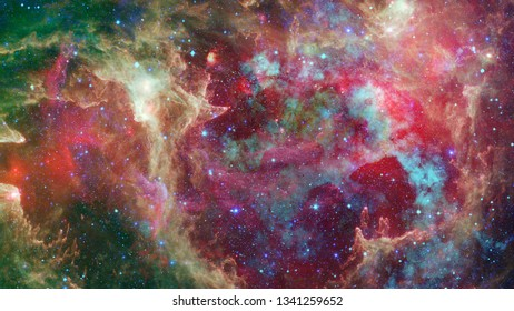 Nebula and stars in deep space. Universe galaxy. Elements of this image furnished by NASA.
