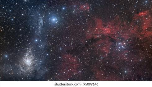 Nebulae in Camelopardalis constellation
