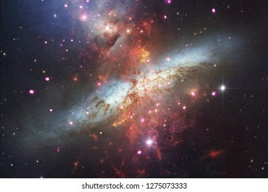 Nebulae and stars in deep space. Cosmic art, science fiction wallpaper. Elements of this image furnished by NASA.