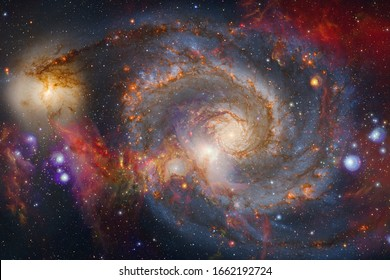 Nebulae and stars in outer space, glowing mysterious universe. Elements of this image furnished by NASA.