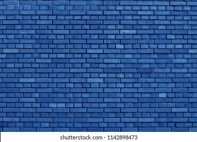 Nebulas Blue colored brick wall background