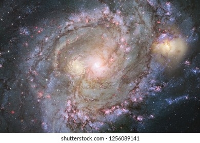 Nebulas, galaxies and stars in beautiful composition. Deep space art. Elements of this image furnished by NASA.