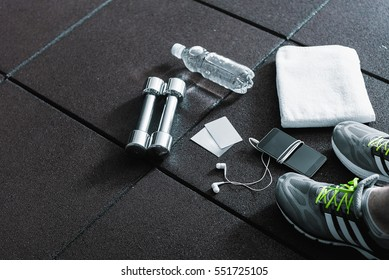 Necessary things for man in gym