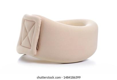 neck brace, health care on white background isolation