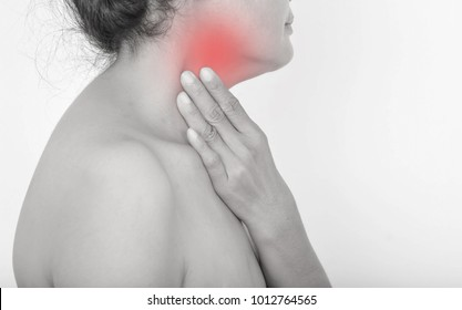 Neck pain and tonsillitis