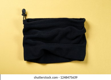 Neck Warmer With Yellow Background