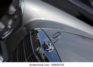 NECKARSULM - GERMANY, JULY23: Mercedes Benz classic car during Heidelberg Classic rallye in Neckarsulm on July 23, 2016