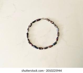 Collier avec perles poires auto-fabriquées