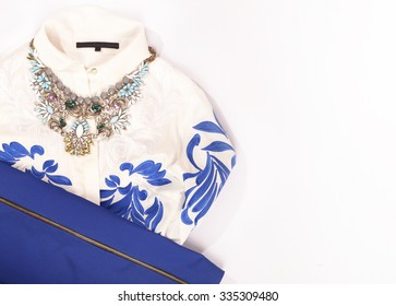 necklace and blouse